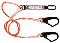 LINQ Double Leg Kernmantle 2M Shock Absorb Rope Lanyard with Hardware KD & SD X2 (RLO2KDSD)