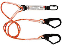 LINQ Double Leg Kernmantle 2M Shock Absorb Rope Lanyard with Hardware KS & SD X2 (RLO2KSSD)