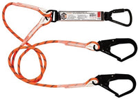 LINQ Double Leg Kernmantle 2M Shock Absorb Rope Lanyard with Hardware KT & SD X 2 (RLO2KTSD)