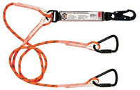 LINQ Double Leg Kernmantle 2M Shock Absorb Rope Lanyard with Hardware SN & KT X2 (RLO2SNKT)