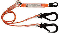 LINQ Double Leg Kernmantle 2M Shock Absorb Rope Lanyard with Hardware SN & ST X2 (RLO2SNST)