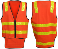 Hi Vis Vic Road Style Day Night Safety Vest (V86) - Ace Workwear