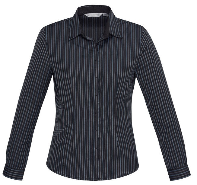 Biz Collection Reno Stripe Long Sleeve Ladies Top (S415LL) - Ace Workwear