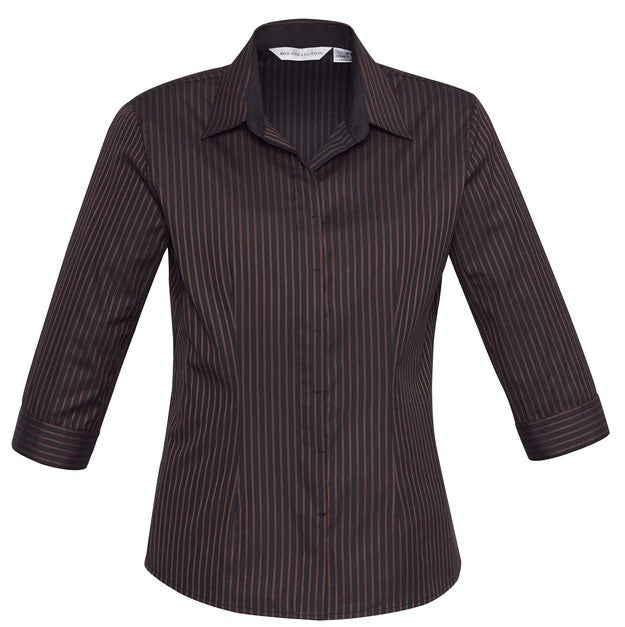 Reno Stripe 3/4 Sleeve Ladies Top (S415LT) - Ace Workwear