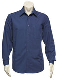 Micro Check Mens Long Sleeve Shirt (SH816) - Ace Workwear