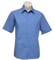 Biz Collection Micro Check Mens Short Sleeve Shirt (SH817) - Ace Workwear