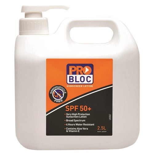 Pro Choice Probloc 50+ Sunscreen 2.5L (SS25-50) - Ace Workwear