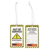 Safety Tag - 125mm x 75mm Caution - Ace Workwear