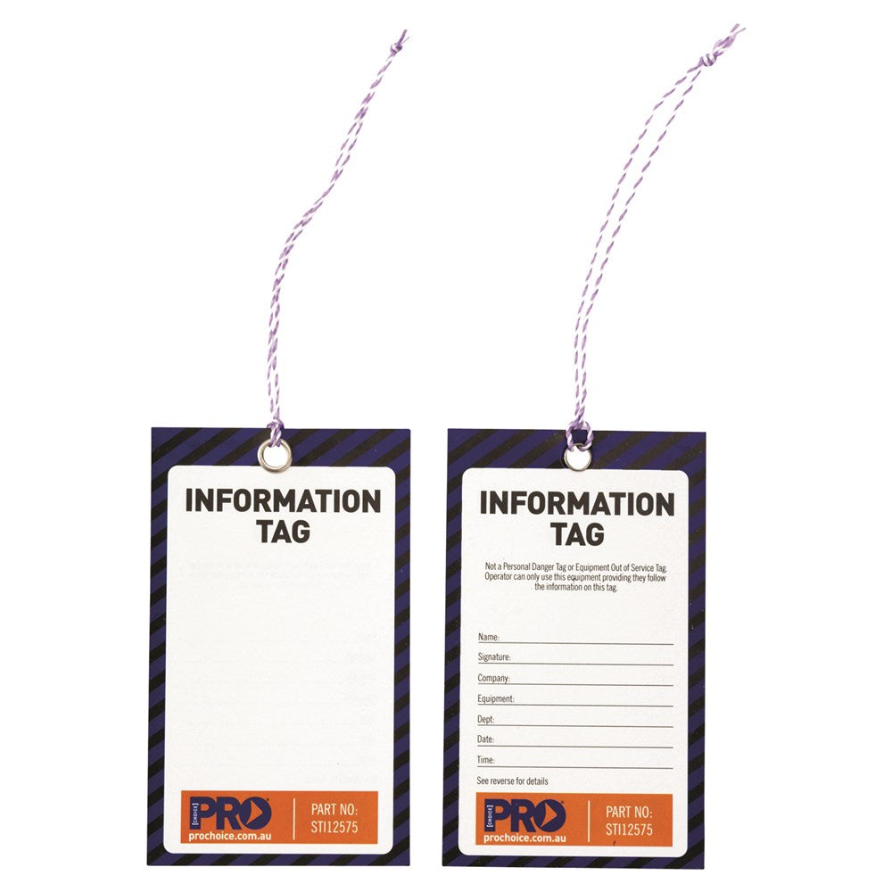 Safety Tag - 125mm X 75mm Information - Ace Workwear