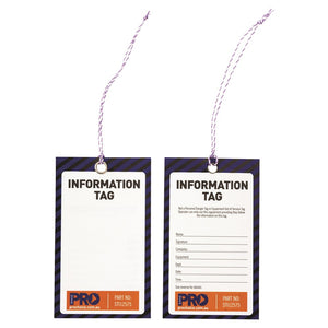 Safety Tag - 125mm X 75mm Information