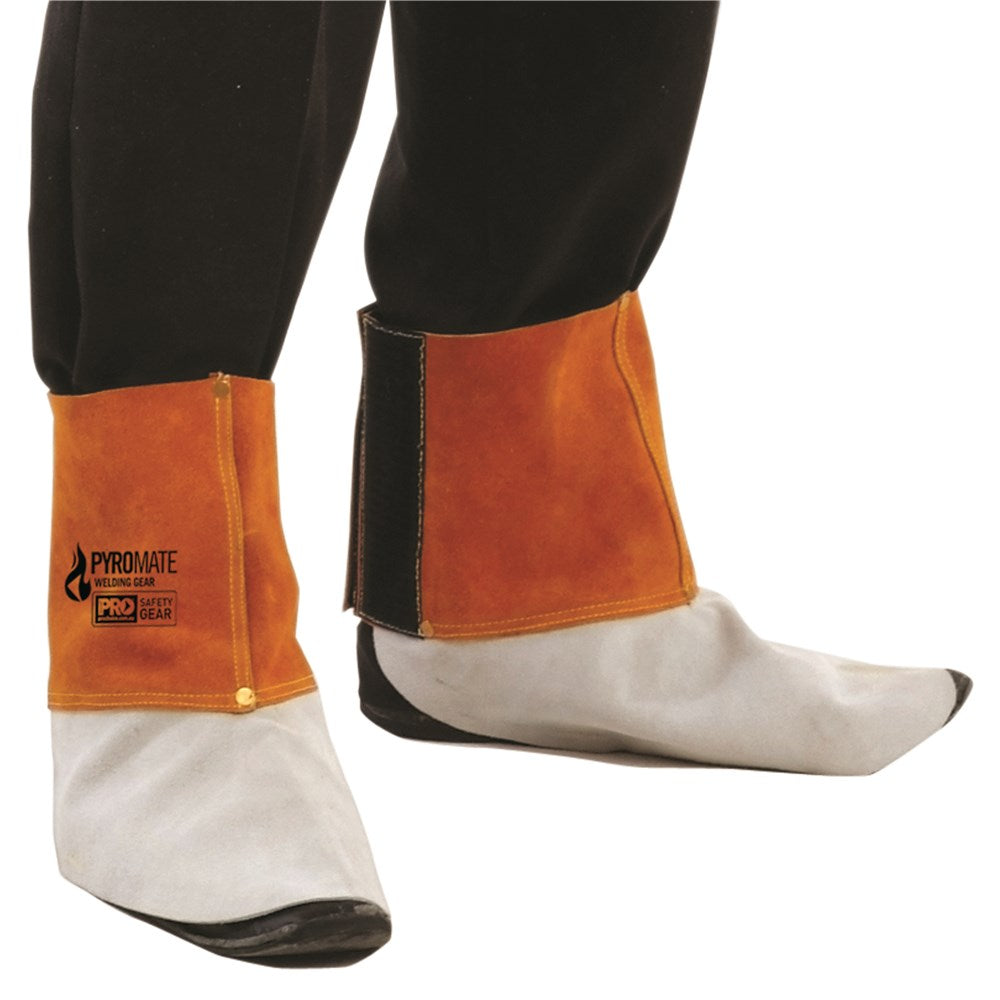 Pyromate Welders Leather Spats - Ace Workwear (1788684992556)