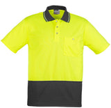 Syzmik Unisex Hi Vis Basic Spliced Polo - Short Sleeve (ZH231) - Ace Workwear