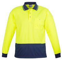 Syzmik Unisex Hi Vis Basic Spliced Polo - Long Sleeve (ZH232) - Ace Workwear