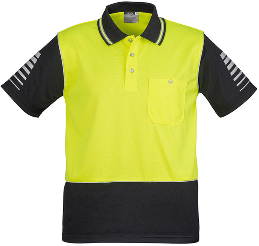 Hi Vis Mens Zone Polo Short Sleeve (ZH236) - Ace Workwear
