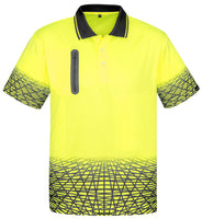 Hi Vis Mens Tracks Polo Shirt Short Sleeve (ZH300) - Ace Workwear
