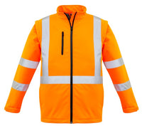 Syzmik Unisex Hi Vis 2 in 1 X Back Rail Soft Shell Jacket (ZJ680) - Ace Workwear