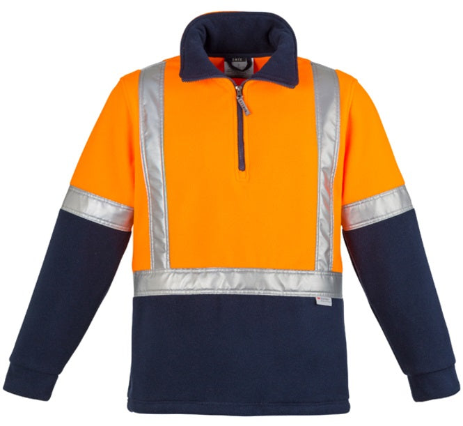 Syzmik Mens Hi Vis Fleece Jumper - Shoulder Taped (ZT462)