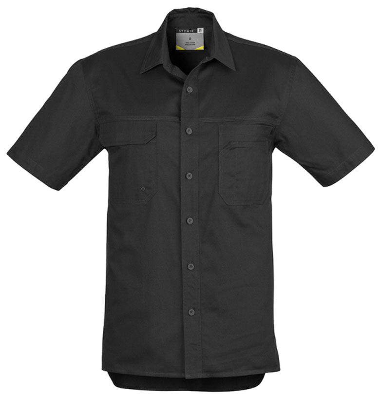 Mens Light Weight Tradie Shirt - Short Sleeve (ZW120) - Ace Workwear