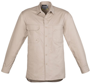 Mens Lightweight Tradie Shirt Long Sleeve (ZW121) - Ace Workwear