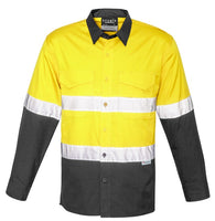 Syzmik Mens Rugged Cooling Taped Hi Vis Spliced Shirt (ZW129)