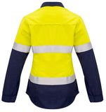 Syzmik Womens FR Closed Front Hooped Taped Spliced Shirt - Ace Workwear