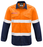 Syzmik Mens Hi Vis FR Hooped Taped Spliced Shirt