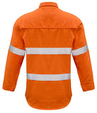 Syzmik Mens FR Closed Front Hooped Taped Shirt - Ace Workwear