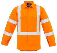 Syzmik FR Hi Vis Mens X Back Taped Shirt