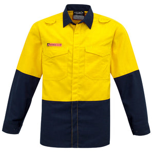 Syzmik Mens Hi Vis Spliced Shirt - Ace Workwear