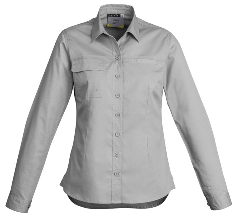 Syzmik Womens Lightweight Tradie Long Sleeve Shirt (ZWL121) - Ace Workwear