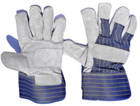 Blue Candy Stripe Leather Gloves - Carton (120 Pairs) - Ace Workwear