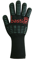 Bastion Zamora - Silicone Grip Heat Resistant Gloves - Carton (24 Pairs) (BSG91835)