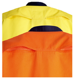 Hi Vis Cotton Twill Shirt Long Sleeve (C81) - Ace Workwear