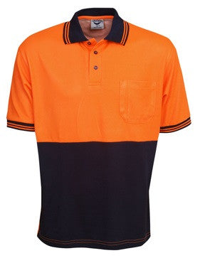 Hi Vis Cotton Back Polo Short Sleeve (P85) - Ace Workwear