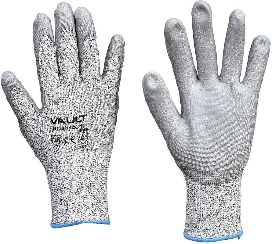 Vault Cut Resistant Level 5 PU Coated Palm Gloves - Pack (12 Pairs) - Ace Workwear