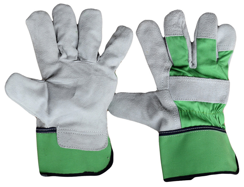 Elton Grey Leather Gloves - Pack (12 Pairs) - Ace Workwear (8627423053)