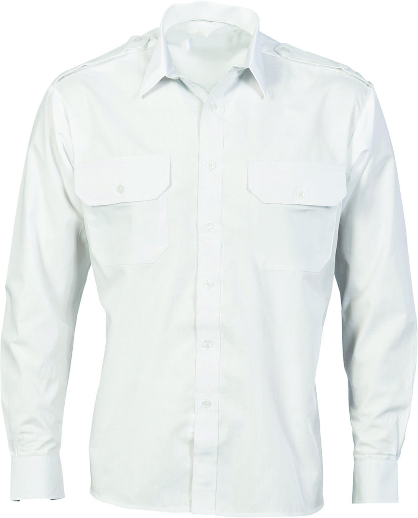 DNC's Epaulette Polyester & Cotton Work Shirt Long Sleeve - Ace Workwear