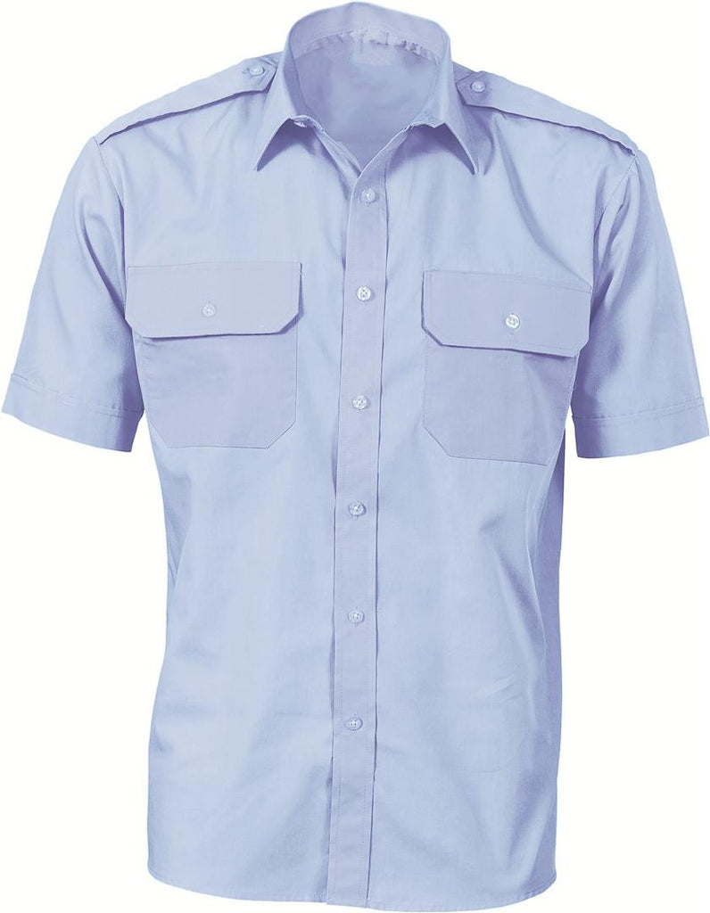 DNC's Epaulette Polyester & Cotton Work Shirt Short Sleeve - Ace Workwear