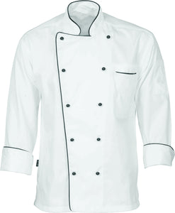 DNC's Classic Unisex Chef Long Sleeve Jacket - Ace Workwear