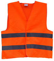 Hi Vis Plain Safety Vest With Hoop Reflective Tape - Ace Workwear