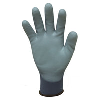 Bastion Messina - Grey Nylon Glove Polyurethane Coating - Carton (120 Pairs) (BSG4312)