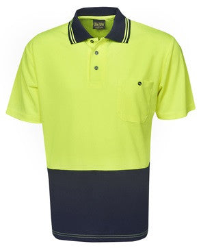 Hi Vis Light Weight Micro Mesh Polo Short Sleeve (P62) - Ace Workwear