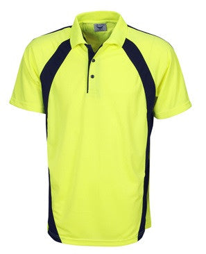 Hi Vis Micro Mesh Mini Waffle Polo Short Sleeve (P88) - Ace Workwear