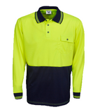 Hi Vis Micro Mesh Polo Long Sleeve (P81) - Ace Workwear
