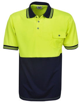 Hi Vis Micro Mesh Polo Short Sleeve (P82) - Ace Workwear