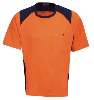 Hi Vis Micro Mesh T-shirt with Side Panel Design (T82) - Ace Workwear