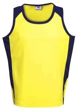 Hi Vis Micro Mesh Side Panel Singlet (S82) - Ace Workwear