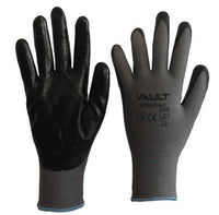 Vault Super Lite Black Nitrile Smooth Finish Gloves - Pack (12 Pairs) - Ace Workwear