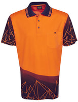 Hi Vis Polo Shirt Short Sleeve Astronomic Design Sublimation Printed (P66) - Ace Workwear