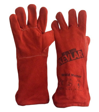 Red Welding Gloves - Pack (12 Pairs) - Ace Workwear